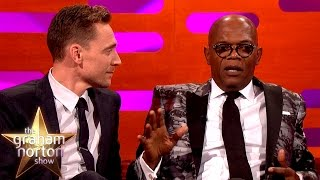 Tom Hiddleston Totally Fangirls Samuel L Jackson - The Graham Norton Show
