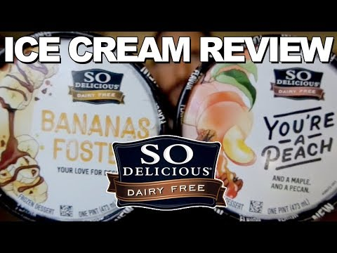 Ice Cream Review: So Delicious Youre a Peach and Bananas Foster