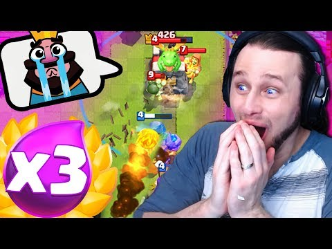 BEST DECK FOR 3X ELIXIR CHALLENGE IN CLASH ROYALE?!