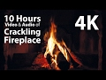 4K UHD 10 hours - Fireplace & Crackling Audio - relaxing, warm, calming