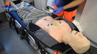 Kleben 4 kanal ekg EKG Rücken