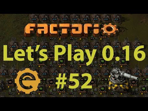 Factorio 0.16 Let's Play #52 - Oil depot, plastics area