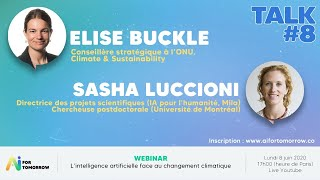 AI for Tomorrow - Elise Buckle & Sasha Luccioni, L'IA face au changement climatique