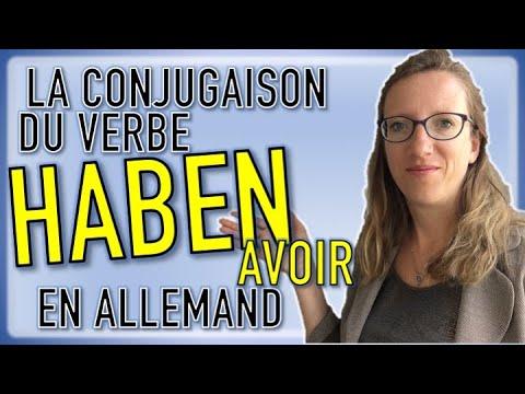 La Conjugaison Du Verbe Haben En Allemand Youtube