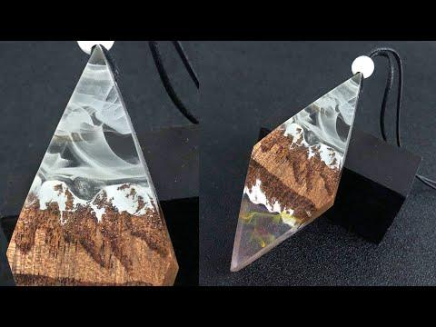 Charming DIY Snow Mountain Reflection pendant/Resin art DIY/DIY epoxy resin art jewelry