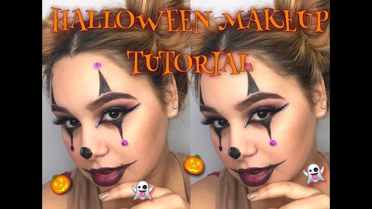 Halloween Makeup Easy Clown.Easy Halloween Makeup Tutorial Creepy Clown Girl
