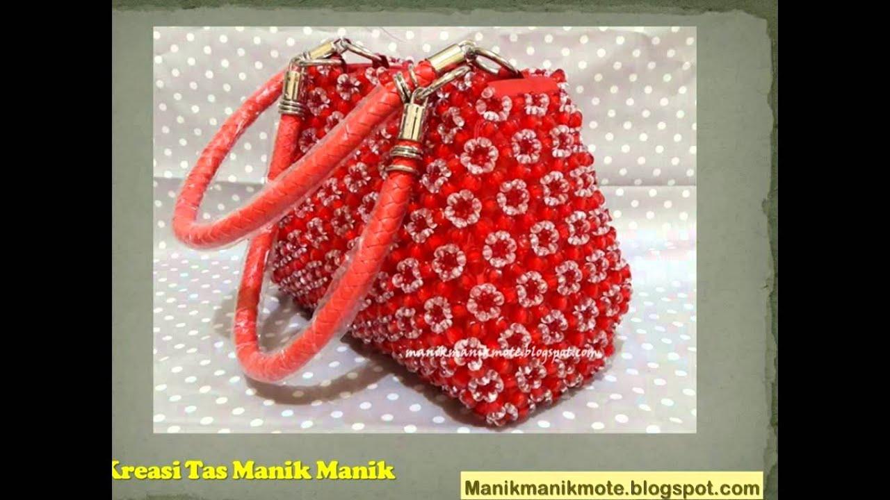 Kreasi Manik Manik - Tas manik manik terbaru - YouTube