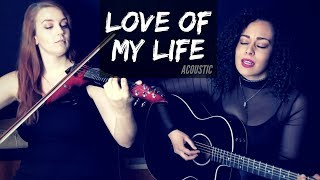 Love of my life - queen (acoustic cover) jessica speziale ft. brigit o'regan