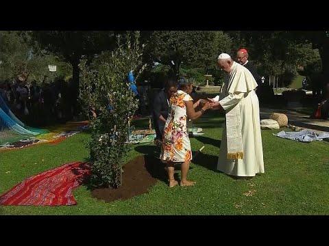شاهد: ممثلو السكان الأصليين للأمازون يشاركون البابا غرس الأشجار في الفاتيكان…  - 11:53-2019 / 10 / 6