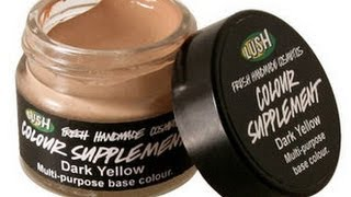 review : Colour Supplement foundation in dark yellow by LUSH