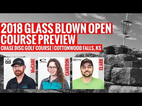 2018 Glass Blown Open Course Preview | Chase Disc Golf Course | Cottonwood Falls, Kansas