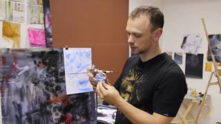 Уроки по аэрографии - Текстура Мрамора, камня. Дмитрий Осокин - студия Art Inc.