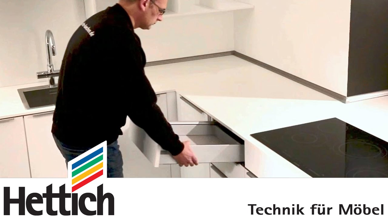 ComfortLine Schubkästen von Hettich: Demontage und Montage - YouTube