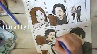 Drawing a Comic Page | Sketching - Inking - Coloring