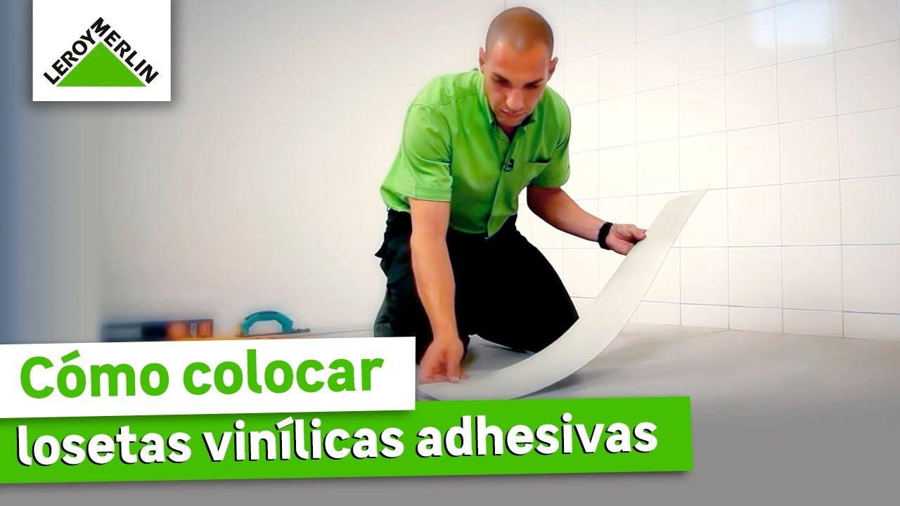 Loseta Para Piso De Baño:Cómo colocar losetas vinílicas adhesivas (Leroy Merlin) – YouTube