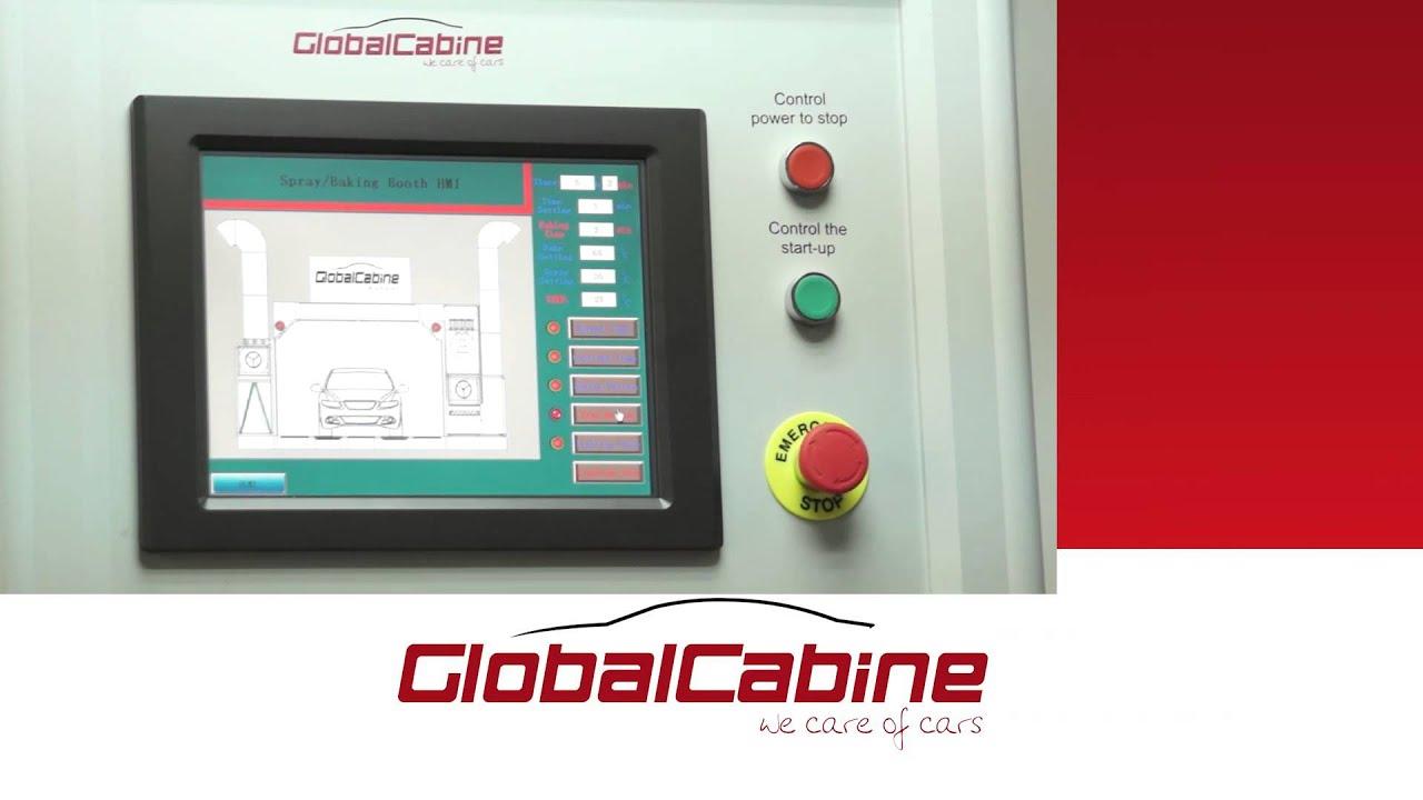 cabine de peinture automobile avec panneau de control digital globalcabine youtube. Black Bedroom Furniture Sets. Home Design Ideas