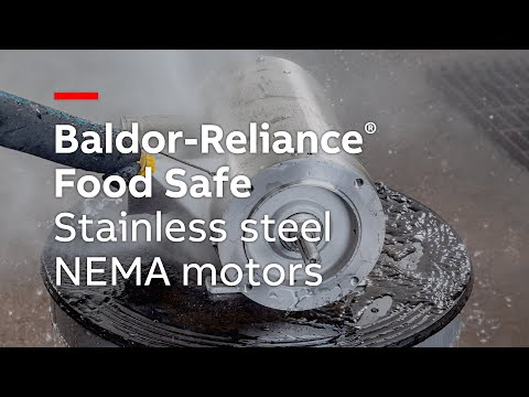 Baldor-Reliance Food Safe Stainless Steel NEMA Motors