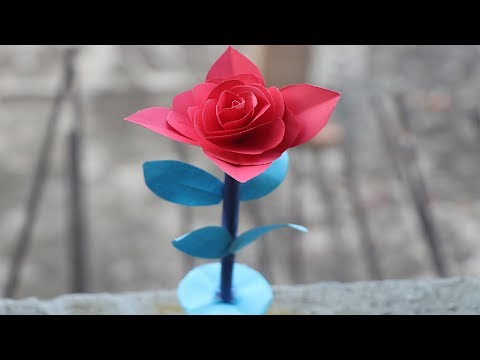 how-to-make-a-rose-with-paper-|-make-it-easy-|-5-minute-crafts-videos-|-*new-tips*