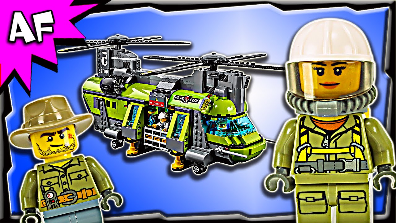 Lego City Volcano HEAVYLIFT HELICOPTER 60125 Stop Motion