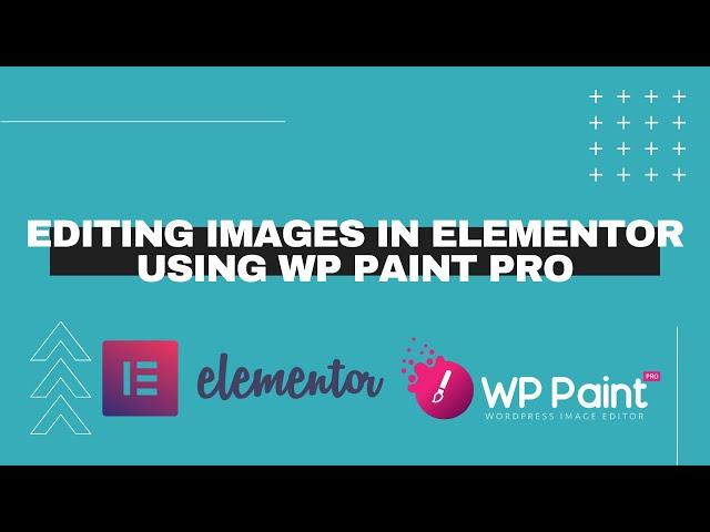 Editing Images in Elementor using WP Paint Pro