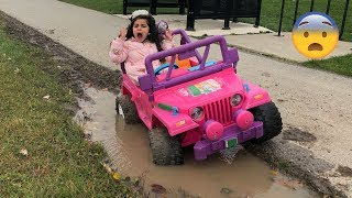 Sally Play Rescue Barbie Car Adventure Story
