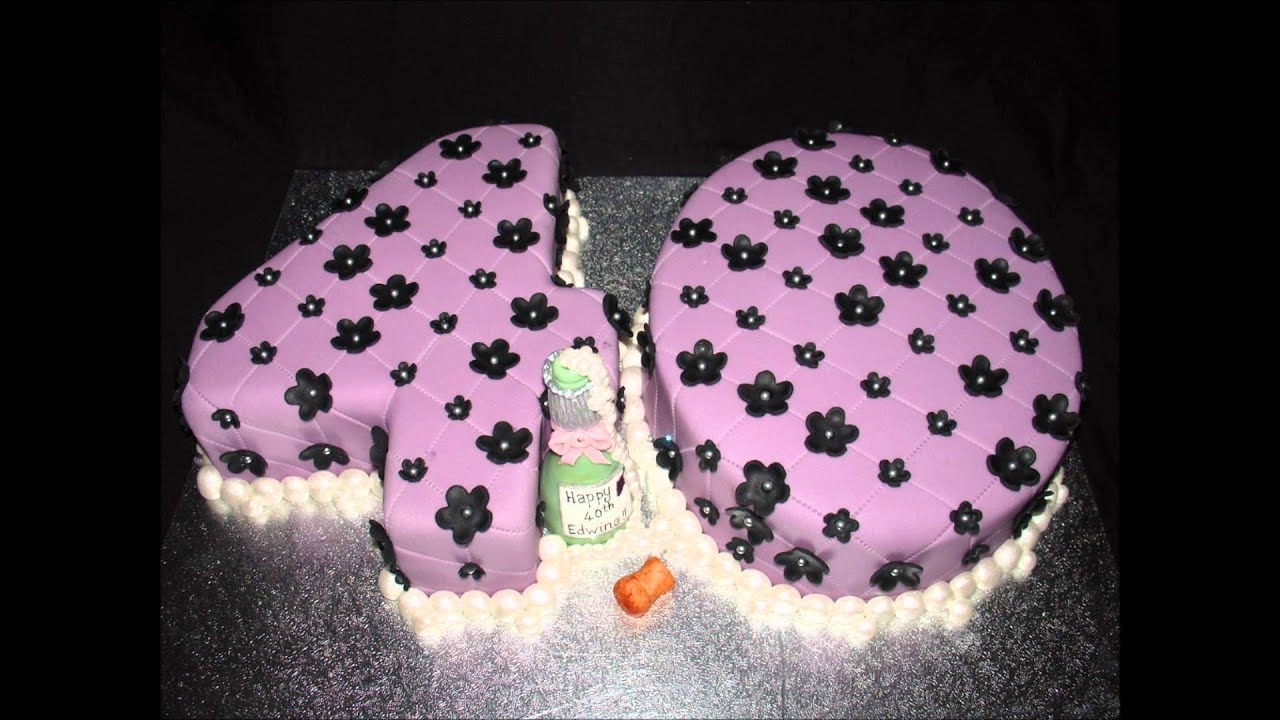 Purple And Black 40th Birthday Cake Youtube