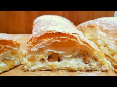 Hojaldre con Manzana y Crema Pastelera | Un postre Riquísimo, muy Fácil y Rápido #74