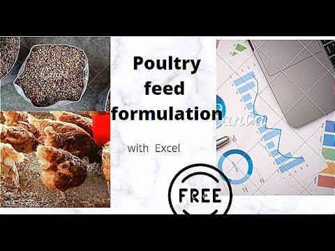 Animal Feed Formulation Software Free Download |excel Feed Formulation| Poultry | Broiler Feed