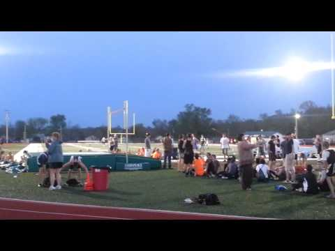 """Ethan Ladyman setting the DeSoto middle school record of 9' 6"""""""