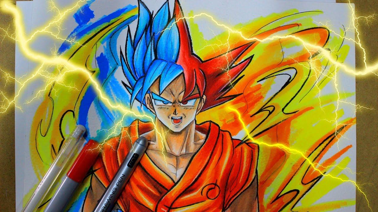 Todas Las Fases De Goku Para Colorear: Como Dibujar A Goku! Fase Dios !