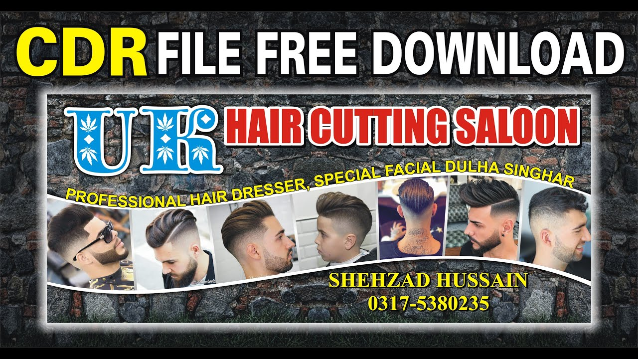 How To Make Barber Shop Banner Design Ii Coreldraw Tutorial Ii New Salon Flex Design I Free Download Youtube