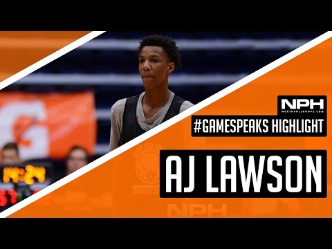 AJ Lawson is a RISING STAR! 30+ NCAA Coaches watch GAME WINNER in Canada!