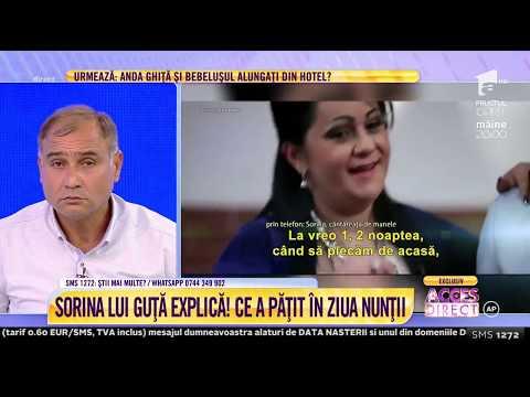 Sorina, fosta iubită a lui Nicolae Guță, explică ce a pățit în ziua nunții: