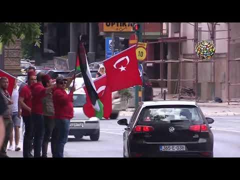 Dünya lideri Erdoğan'a Saraybosna'da sevgi gösterisi