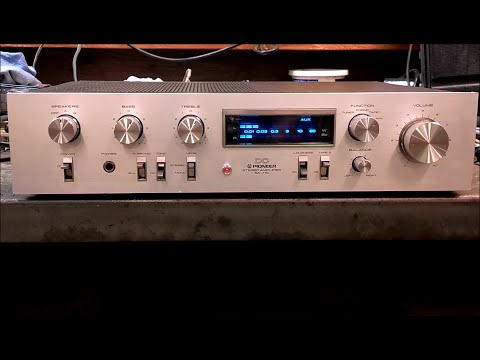 Vintage Pioneer SA-710 Amplifier found in scrap yard...Testing and Repair