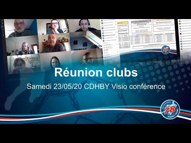 CDHBY - Réunion Clubs du samedi 23 mai 2020 en visio-conférence