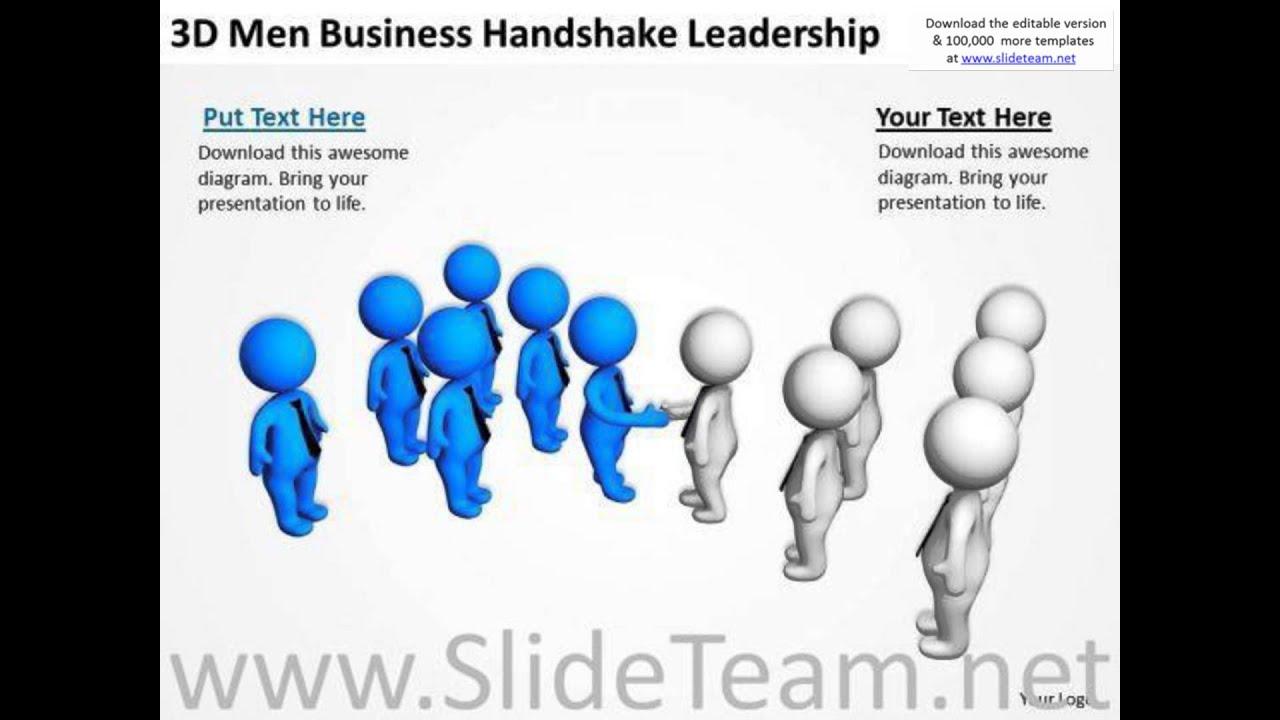 Young business people 3d men handshake leadership powerpoint young business people 3d men handshake leadership powerpoint templates presentation infographics sli alramifo Images