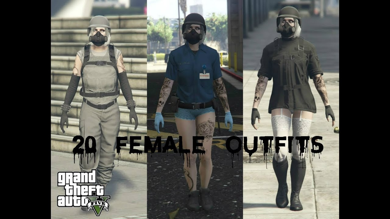 gta 5 online  my top 20 female outfits  makayla darkness
