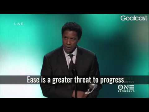 Ease is a hindrance to progress: Denzel Washington
