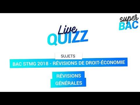 Bac STMG 2018 - Révisions de Droit-économie : Notions indispensables pour l'épreuve