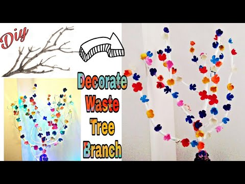 How to decorate tree branches at home | Diy home decor | Diy wall decor | Tree branch decoration