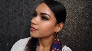 how to fill your brows using Anastasia brow powder duo / granite / soft black eyebrows