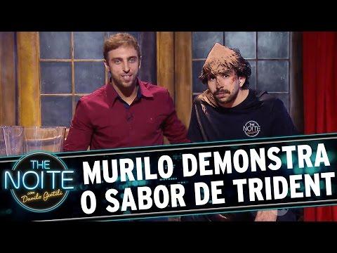 The Noite (11/11/15) - Merchan: Murilo Couto Demonstra, Com Emoções, Todo O Sabor De Trident
