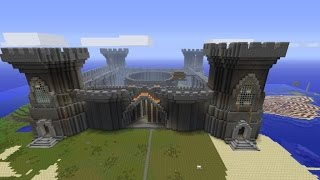 How to build a minecraft castle super quickly! CHEAT! Part 1