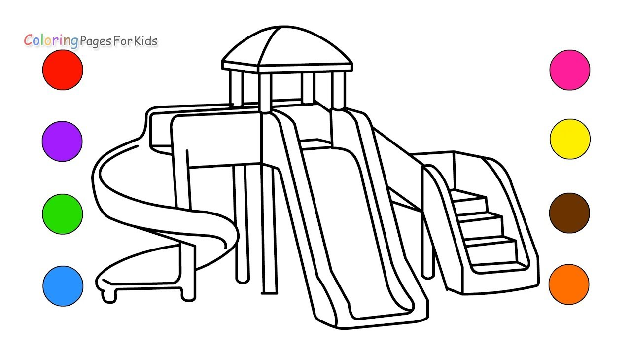 playground coloring pages # 4