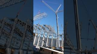 Bilgin vinç ac350 çelik konstrüksiyon çatı montaj radüs 35 metreden 45 metreye kadar ağırlık 20 ton