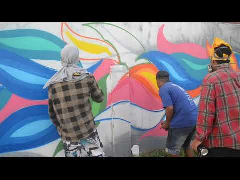 Wake Up Project : TONGA SPC WALL by Seleka Art Scty x Sélä  (Havelu unofficial video)