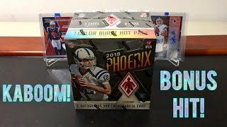 2018 Panini Phoenix Football Hobby Box Break - KABOOM! Bonus Hit!