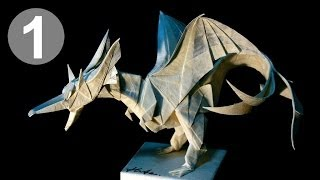Part1/4 : Origami Fiery Dragon Ver.2 Instruction 摺紙噴火飛龍第二版教學 (kade Chan)