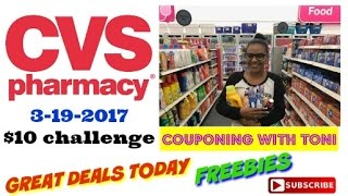 CVS $10 Challenge 3/19/2017 ~ GREAT Couponing TODAY ~ Couponing With Toni